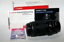 Canon EF 70-300mm F/4-5.6 IS USM Lens Boxed with Jessops 58mm UV Filter