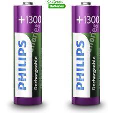 2 x Philips AA 1300 mAh Rechargeable Batteries NiMH LR6, HR6