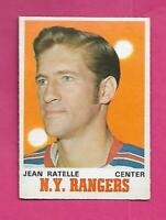 1970-71 OPC  # 181 NY RANGERS JEAN RATELLE EX-MT CARD (INV# D0135)