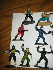 VINTAGE 1988 Hasbro GI Joe Micro Mini Figure ×7 Snake Eyes Cobra BAT SGT Slaught