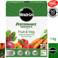 Miracle Gro Plant Food Fruit & Veg, Grows Plants Twice as Big, Organically 1kg