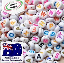FAST SHIPPING 30g (250pcs) Alphabet Letter beads Mixed Colours EXTRA VOWELS