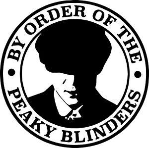 8 X  BLINDERS STYLE WINE BOTTLE  FOR BAR GLASS BOX, ECT VINYL STICKER 50mm
