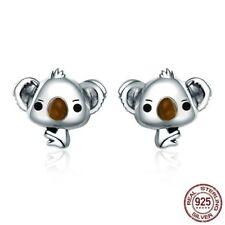 Women Animal Cute Koala Bear Stud Earrings 925 Sterling Silver Jewelry Gift