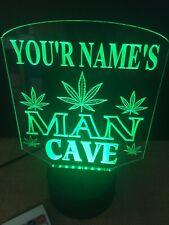 Marijuana Personalized Man Cave Led Neon Light Sign Rgb Game Room ,Bar garage