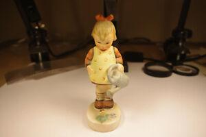 Little Gardener, Girl with Watering Can, Vintage Hummel Figurine TMK 3