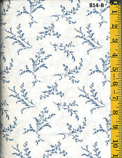 Blue Flower Design Cotton Quilt Fabric P&B Textiles BTY 814-B AA