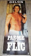 alain delon PAROLE DE FLIC !  affiche cinema