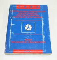 1993 Chrysler Imperial Dodge Dynasty Body Diagnostic Procedures Manual