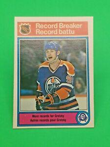 1982-83 O-Pee-Chee Wayne Gretzky # 1 Edmonton Oilers Record Breaker - NM-MT  !