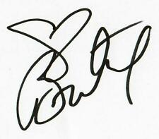 """""""Princess of Pop"""" Britney Spears Hand Signed 3X5 Card Todd Mueller COA"""
