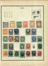 Peru Nice Collection Hinged To Album Pages High C.V. Mixed Condition