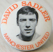 MANCHESTER UNITED Player from 1963-1973 DAVID SADLER Button badge 31mm x 31mm