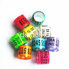 50pcs*8mm personal racing pigeon ring for leg bands writ name phone logo year
