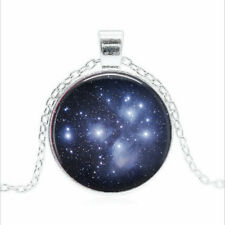 Pleiades Star Cluster Tibet silver Glass dome Necklace chain Pendant Wholesale