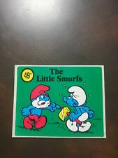 1980's Point of Sale Sticker for Smurf Figures-49 Cents