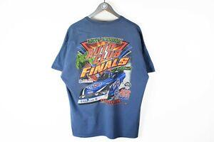 NHRA Drag Racing 2012 T-Shirt XLarge / XXLarge blue big logo
