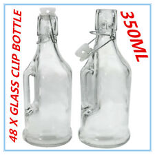 24x 350ml Small Glass Clip Jars Bottle w/ Handle Wedding Favours Jar Drinks