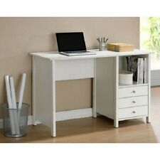 New Home Office Computer Writing Desk with Drawer Storage Contemporary White