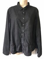 Women's UK Size 18 Shirt Tencel Chambray Blouse Top Grunge Blogger Streetwear