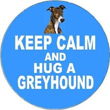 2 Greyhound Dog Car Stickers (Keep Calm & Hug) By Starprint