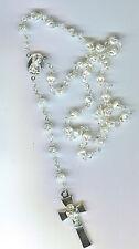 Rosary/Rosario/Austrian/Vatican/Crystal/Silver/3452