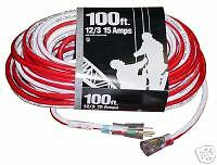 Patriot Extension Cord, 100 ft, 12 ga., Lit Ends