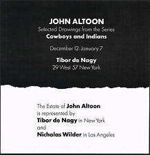 1970 Vintage John Altoon Art Exhibition Tibor De Nagy Gallery Print Ad
