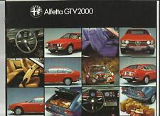 ALFA ROMEO Alfortville GTV6 2000 SALES BROCHURE 1978