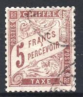 """FRANCE STAMP TIMBRE TAXE N° 27 """" TYPE DUVAL 5F MARRON """" OBLITERE TTB  M759"""