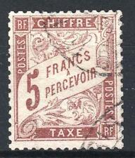 "FRANCE STAMP TIMBRE TAXE N° 27 "" TYPE DUVAL 5F MARRON "" OBLITERE TTB  M759"