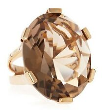 Stephen DWECK Smoky Quartz GOLD Tone RING Designer Statement Cocktail Sz 6 NEW