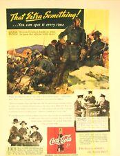"1943 Drink  Coca -Cola   Militaria  Color Poster   Poster  11""X17"" N0. # 014"