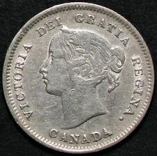 1899 Canada 5 Cents Queen Victoria Silver #14625