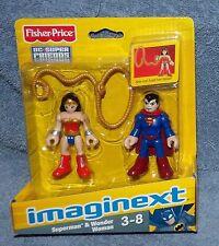 IMAGINEXT 2012/2013 DC SUPER FRIENDS SUPERMAN & WONDER WOMAN SET