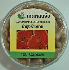 Lingzhi Reishi Ganoderma Lucidum 325 mg cápsulas Super alimentos / tónico 100% Natural