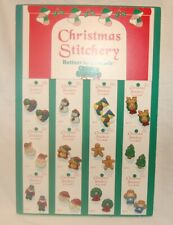 Salesman's Sample Card of Christmas Buttons, By La Mode, 24 Hand Painted,Nice