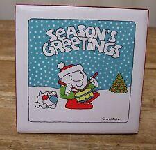 Ziggy Ceramic Tile Trivet Tom Wilson Decor Comic Seasons Greetings Christmas