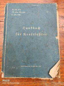 H.Dv.471 Handbuch für Kraftfahrer.1941 Krad Kettenfahrzeuge  Kfz Technik WK2