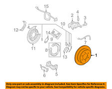 Hummer GM OEM 06-10 H3 Rear Brake-Rotor 15111376