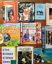 Collection10 assorted book Dust Jackets- used, new, vintage. cookbook,kids, NF