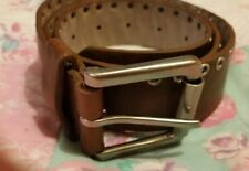 Womens-Ladies/Mens'Gents Playboy brown open studded Belt, 32-37 fit☆⭐️