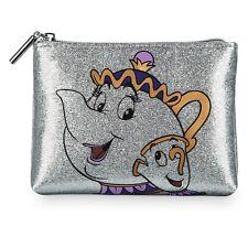 Disney Danielle Nicole Beauty Beast Mrs Potts & Chip Makeup Cosmetic Bag Purse