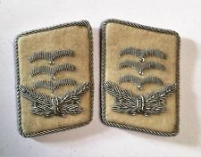 German WW2 Luftwaffe .H.G.Division Hauptman Collar Tabs pair on White background