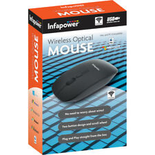 NEW Infapower X205 Wireless Optical Mouse Black for PC / Mac Compatible