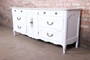 Century Furniture French Provincial Louis XV White Lacquered Dresser or Credenza