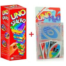 UNO Stacko Jenga Style Stacking Block Family Playing Game Free Uno H2O Card Game