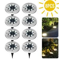 LED Solar Power Ground Lights Floor Decking Patio Outdoor Garden Lawn Path Lamp