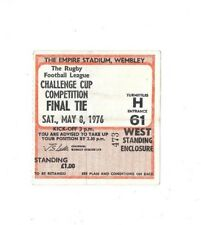 1976 - St. Helens v Widnes, Challenge Cup Final Match Ticket.