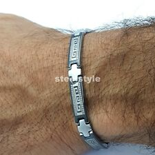 STAINLESS STEEL BRACELET ROMAN STYLE MEN'S JEWELLERY BRACELET RS13